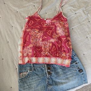Free people tube top with adjustable straps